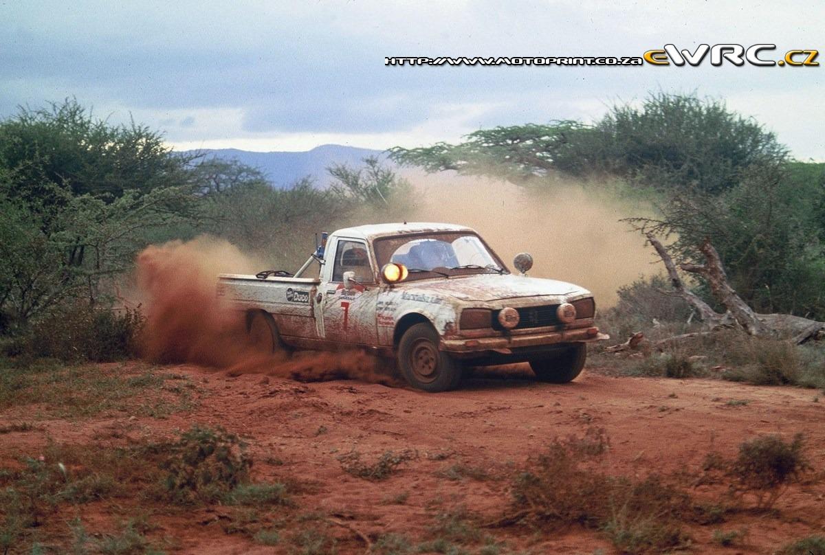 Johnny Hellier John Hope Peugeot 504 Pick Up V6 Marlboro
