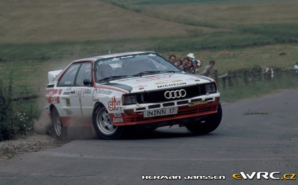 Harald Demuth Emilio Radaelli Audi Quattro A2 Avd