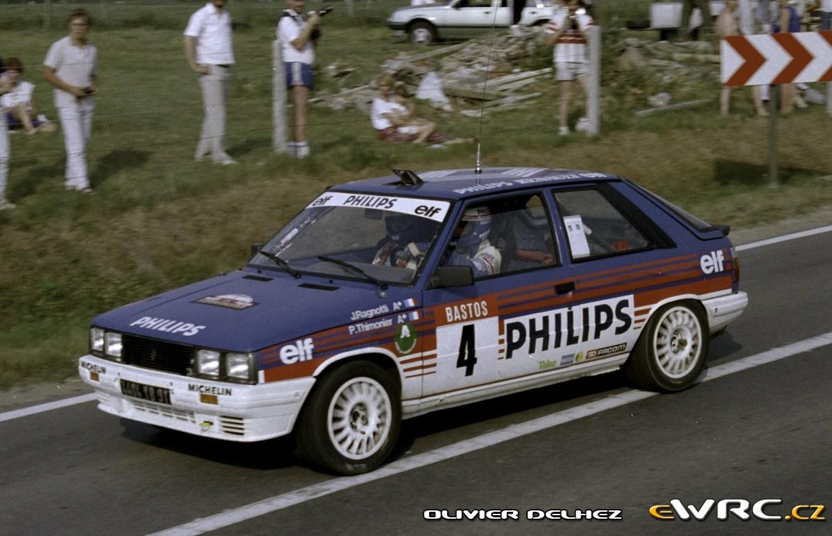 Jean Ragnotti Pierre Thimonier Renault 11 Turbo Ypres 24 Hours Rally 1986