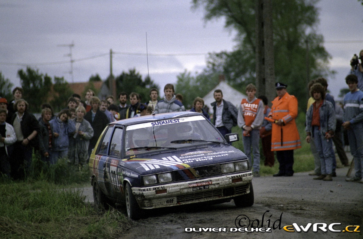 Philippe Vernier Guy Beaussart Renault 11 Turbo Ypres 24 Hours Rally 1987