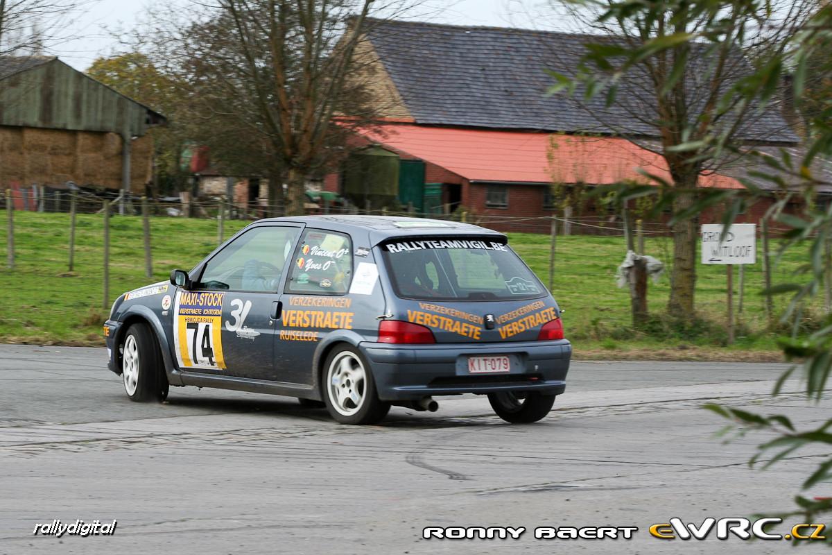 Vincent Verstraete Yves Bruyneel Peugeot 106 Gti Hemicuda Rally 2006