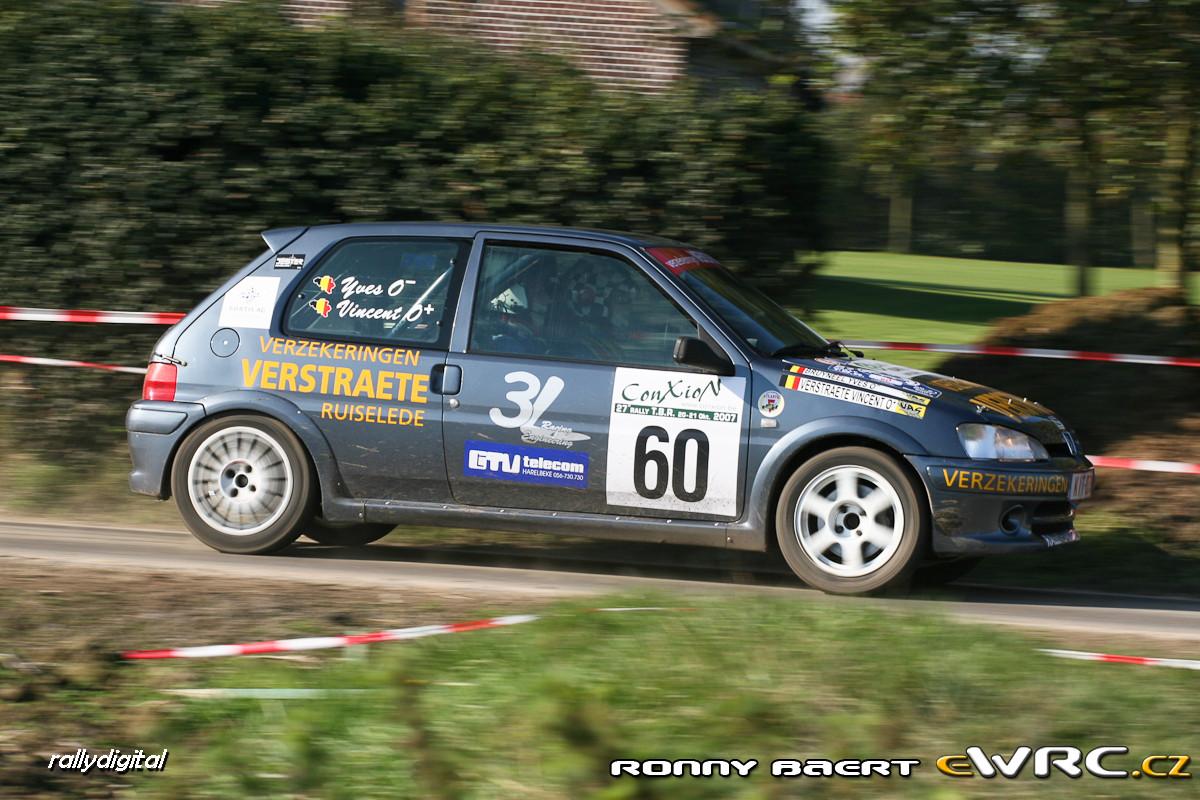 Vincent Verstraete Yves Bruyneel Peugeot 106 Gti Rally Tbr 2007