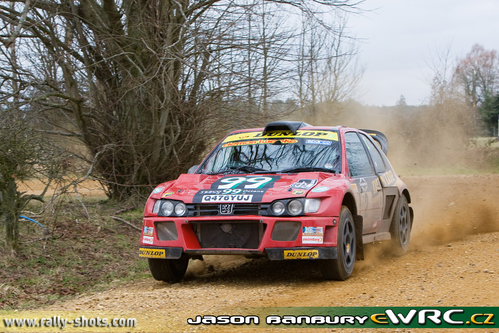 río sector pedazo  Andy Burton − Shelley Rogerson − Peugeot Cosworth − Rallye Sunseeker 2008