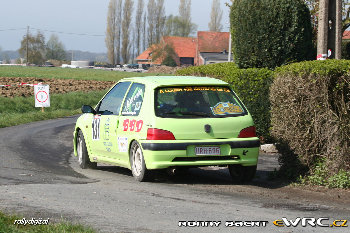 Kevin Mahieu Gilles Mahieu Peugeot 106 Gti Lrt Comines Rally 2008