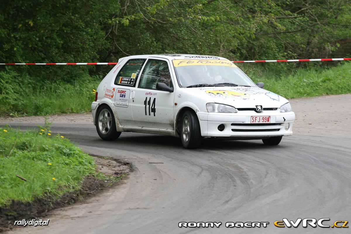 Michael Deruwe Bertrand Loridan Peugeot 106 Gti Lrt Comines Rally 2009