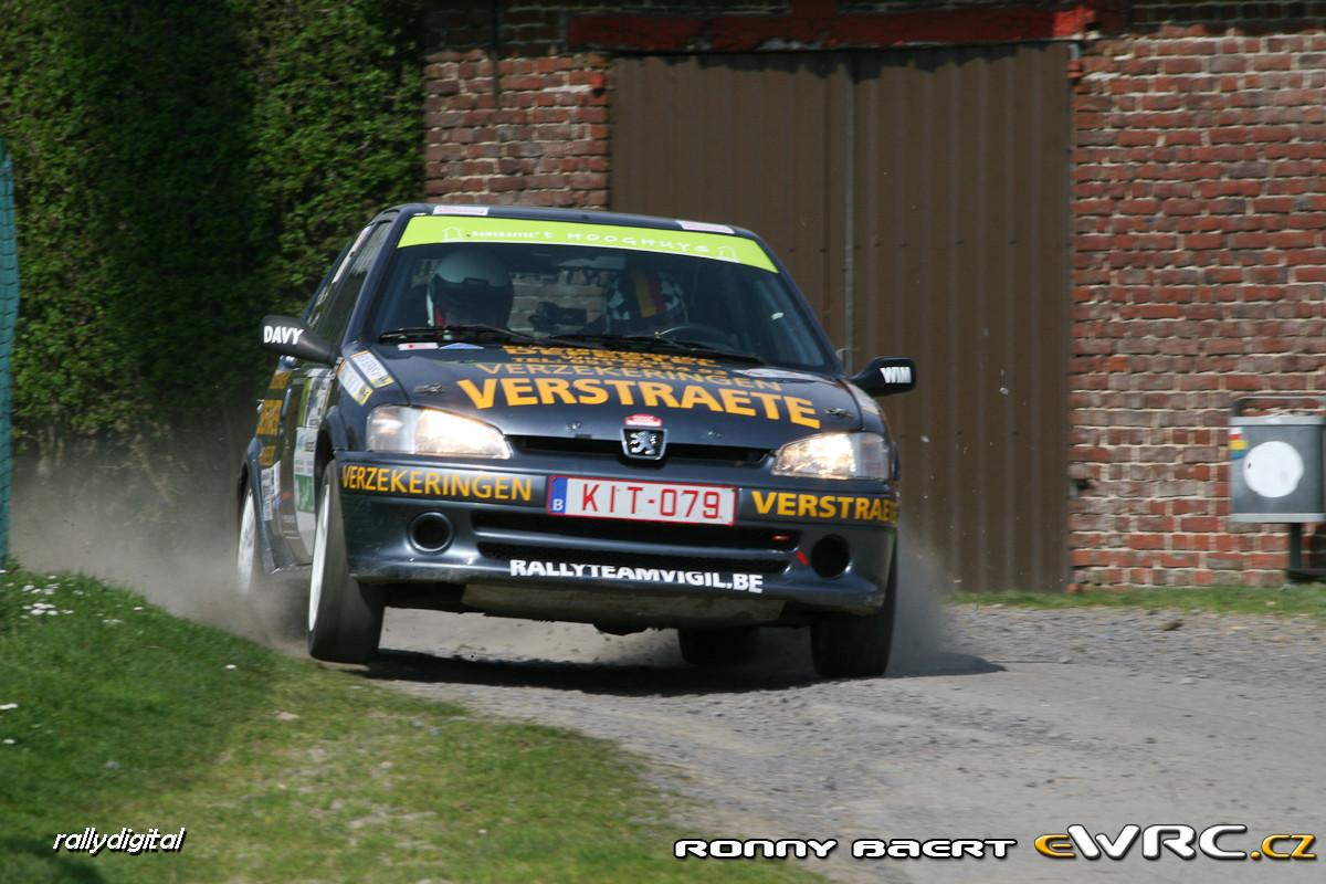 Vincent Verstraete Nick Borms Peugeot 106 Gti Tac Rally Criterium 2009