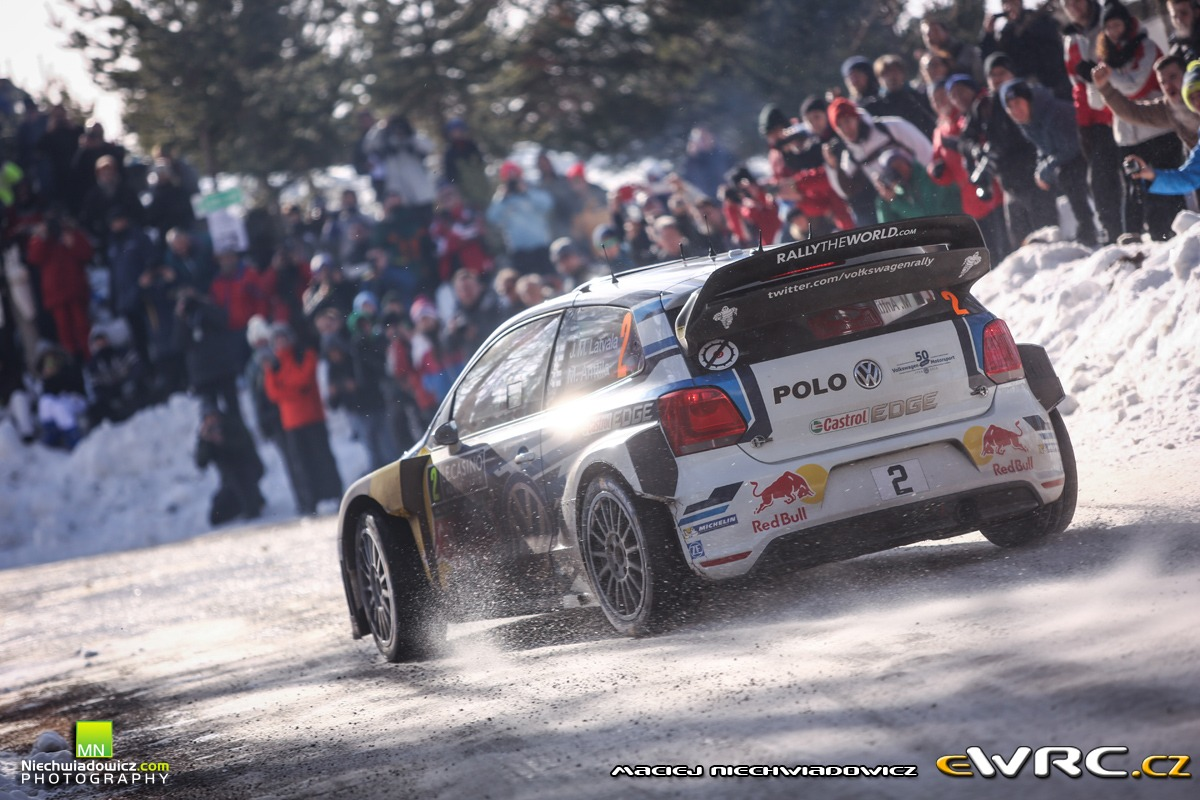 jari matti latvala miikka anttila volkswagen polo r wrc rallye automobile de monte carlo 2016. Black Bedroom Furniture Sets. Home Design Ideas