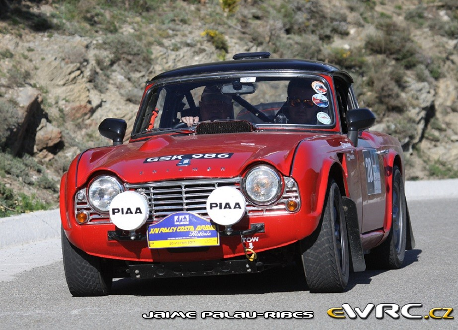 Triumph Tr4 Rally Costa Brava Historic 2017