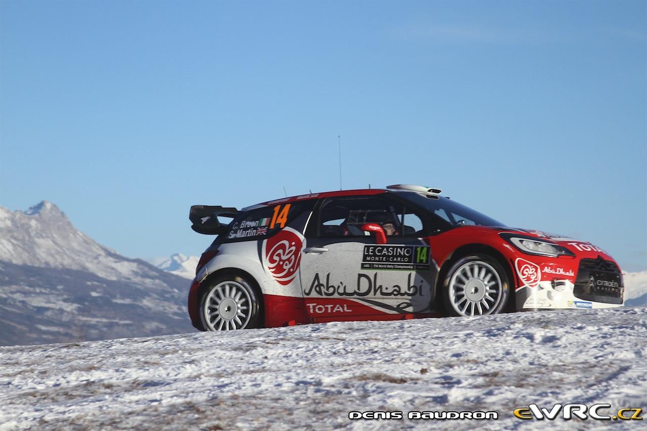 2017 Monte Carlo >> Craig Breen − Scott Martin − Citroën DS3 WRC − Rallye Automobile de Monte-Carlo 2017