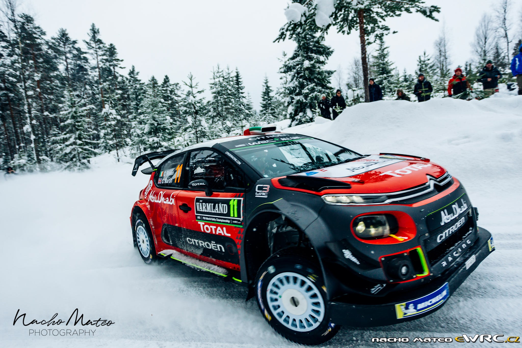 craig breen scott martin citro n c3 wrc rally sweden 2018. Black Bedroom Furniture Sets. Home Design Ideas