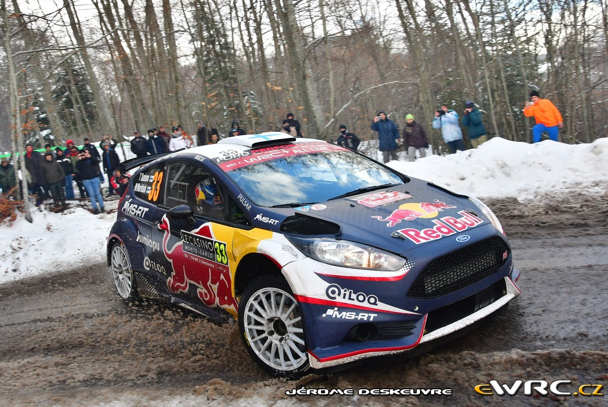 teemu suninen mikko markkula ford fiesta r5 rallye automobile de monte carlo 2018. Black Bedroom Furniture Sets. Home Design Ideas